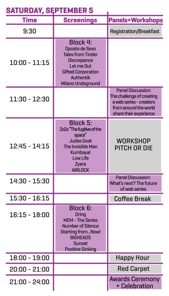 Webfest Berlin: Der Ablaufplan für Samstag, 5. September